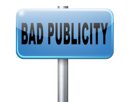 publicity: Bad publicity, negative gossip ruining reputation and giving a bad name. Stock Photo