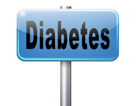 causes: Diabetes find causes  and sceen for symptoms of type 1 or 2 prevention by dieting or treath with medication Stock Photo
