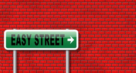 taking risks: easy street, keep it simple no risk and safe solution