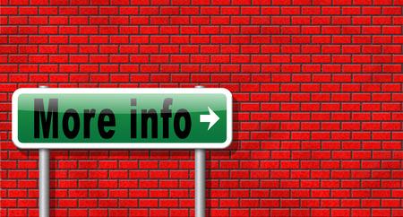 more information: more information sign additional info billboard read more