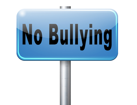 stopping: Bully free zone, Stop bullying at school or at work stopping or online. Stock Photo