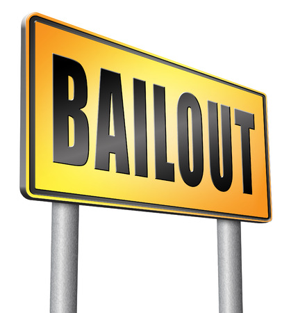 bailout road sign billboard.