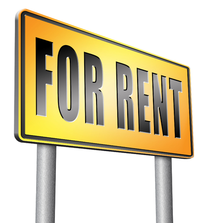 room to let: For rent road sign billboard. Stock Photo