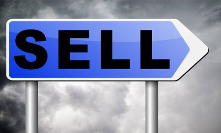 sell: Sell road sign billboard.
