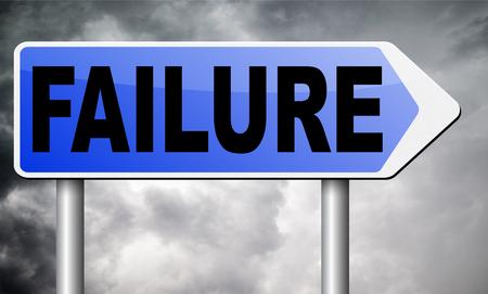 looser: failure road sign billboard.