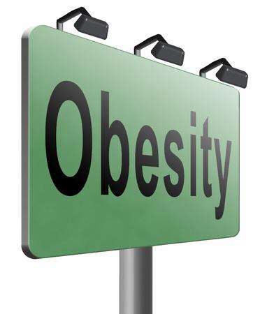 fatness: Obesity road sign billboard.