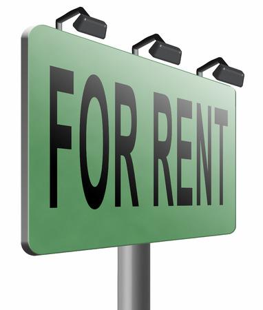 room to let: for rent road sign billboard.