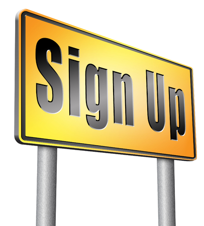 join here: sign up road sign billboard.