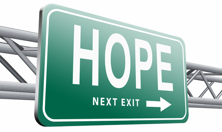 hope: Hope, road sign billboard.