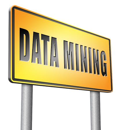 seach: data mining road sign billboard.