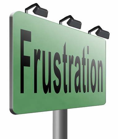 provoked: Frustration road sign billboard. Stock Photo