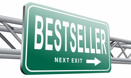 bestseller: Bestseller, road sign billboard. Stock Photo