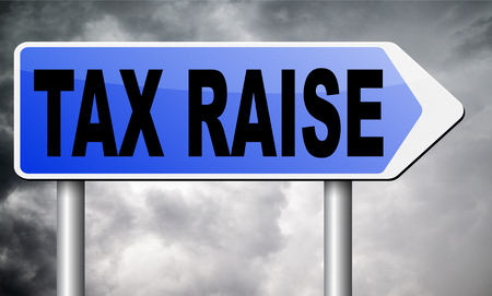 conservative: tax raise road sign billboard.
