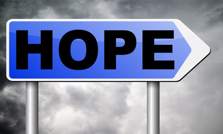 hope: hope road sign billboard.