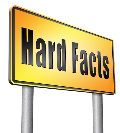 facts: hard facts road sign billboard.