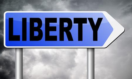 unchained: liberty road sign billboard. Stock Photo