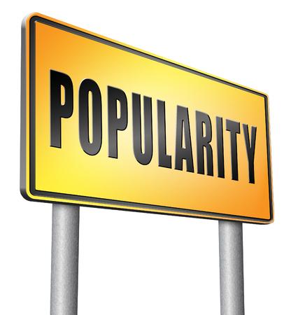 popularity: Popularity road sign billboard..