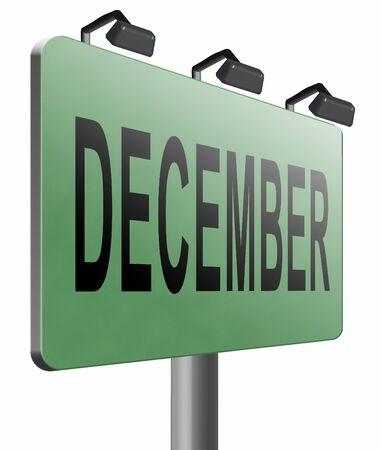 diciembre: Diciembre cartelera se�al de tr�fico.