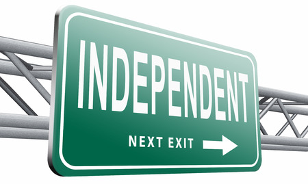 active adult community: independent, road sign billboard. Stock Photo
