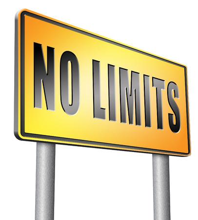 no limits: no limits road sign billboard.