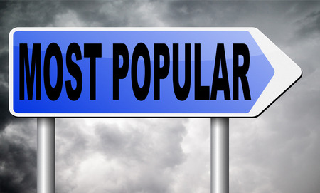popular: most popular road sign billboard.