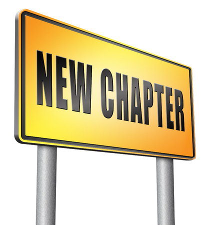 better chances: New chapter, road sign billboard.