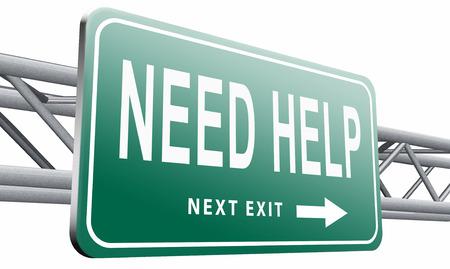 need help: need help road sign billboard. Stock Photo