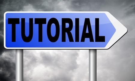 word lesson: tutorial road sign billboard.