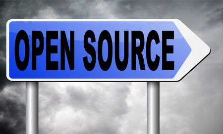 open source: open source road sign billboard.