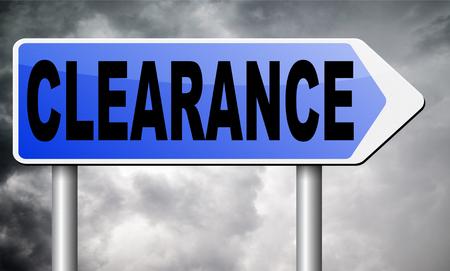 clearance: clearance road sign billboard.