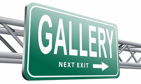 artictic: gallery, road sign billboard