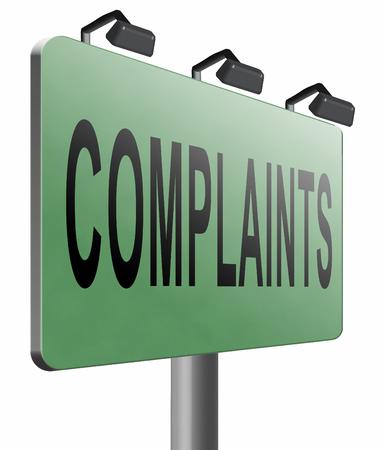 complaints: Complaints road sign billboard.