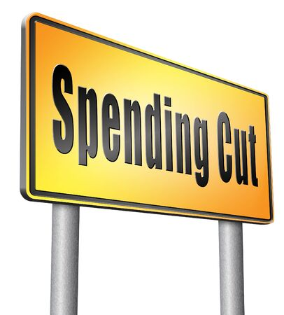 spending: Spending road sign billboard.