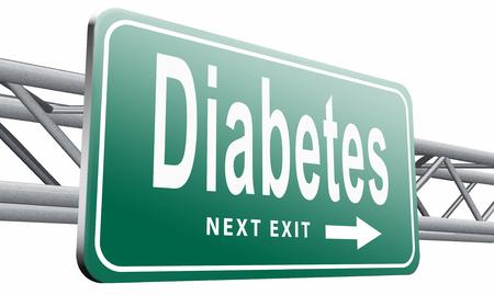 Diabetes road sign billboard.
