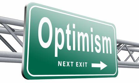 optimismo: El optimismo cartelera se�al de tr�fico.