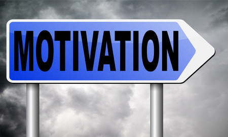 going for it: motivation road sign billboard.