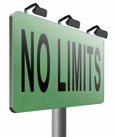 no limits: no limits road sign billboard.