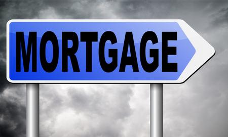 repossession: mortgage road sign billboard.