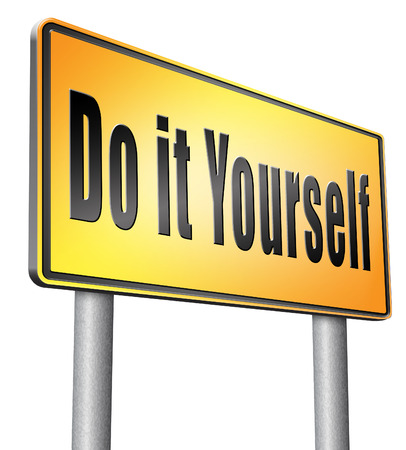 do it yourself: do it yourself, road sign billboard.