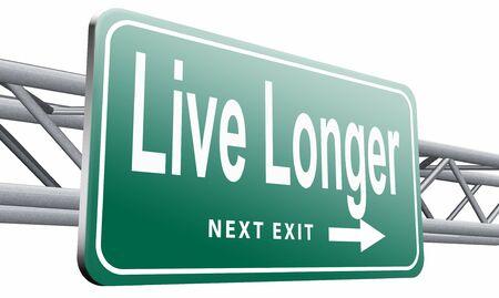 longer: live longer road sign billboard.