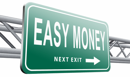 earn money online: easy money road sign billboard.