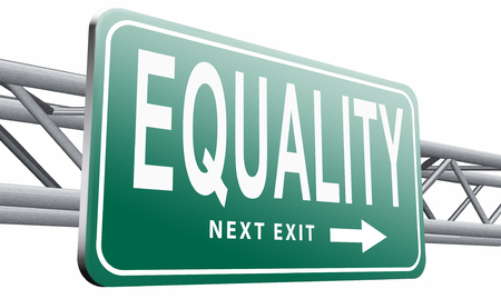 invalidity: Equality, road sign billboard. Stock Photo