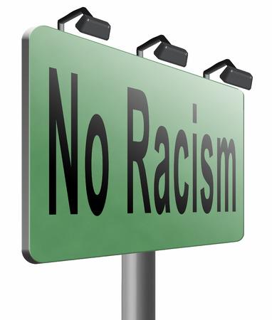 racismo: Sin cartelera racismo señal de tráfico.