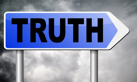 truth: truth road sign billboard.