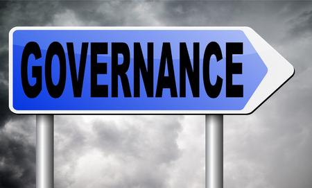governance: governance road sign billboard.
