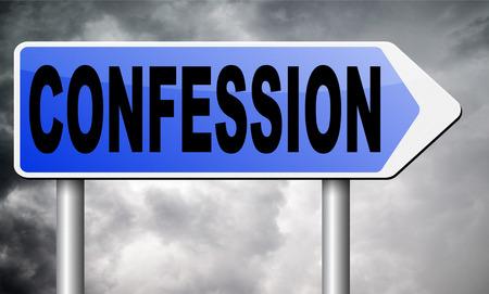 confession: confession sign