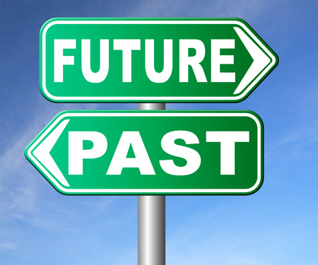 fortune telling: past future prediction and forecast near future fortune telling and forecast evolution and progress and innovations Stock Photo