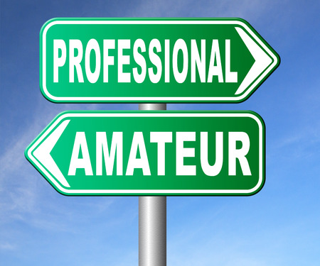 skilled: professional amateur craftsman expert novice or beginner skilled specialist or recruit and rookie road sign arrow craftsmanship