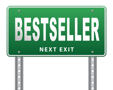 most popular: Bestseller, most popular road sign popularity billboard for best seller or market leader and top product or rating in the charts