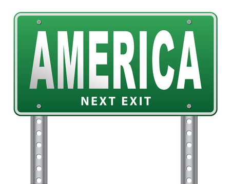 raod: America north america or south  and central america travel vacation and tourism continent, road sign billboard.